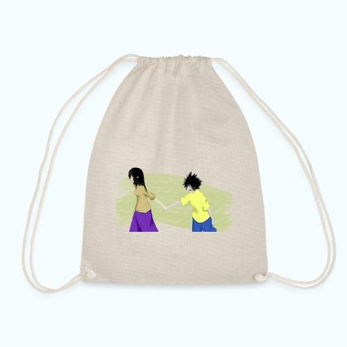 WHERE? Real drawing - Drawstring Bag