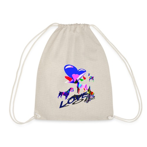 look at these dogs love - Sac de sport léger