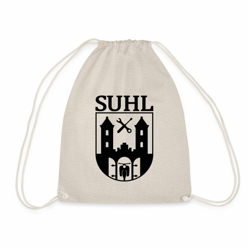 Simson Suhl coat of arms with text - Drawstring Bag