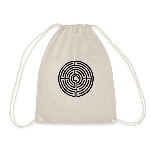 Labyrinth Schutzsymbol Lebensweg Magie Mystik - Turnbeutel
