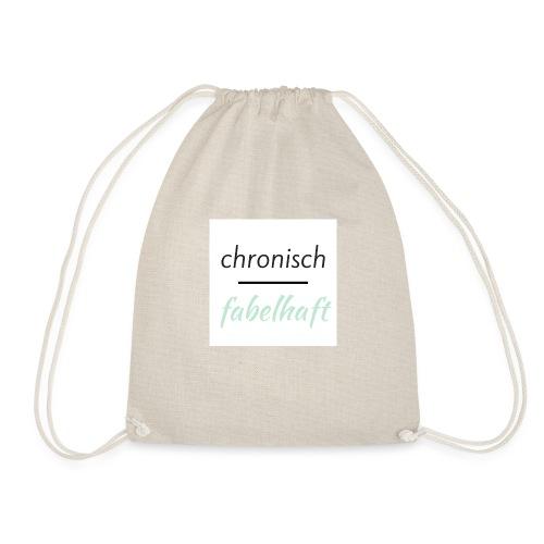 chronisch fabelhaft Logo mint - Turnbeutel