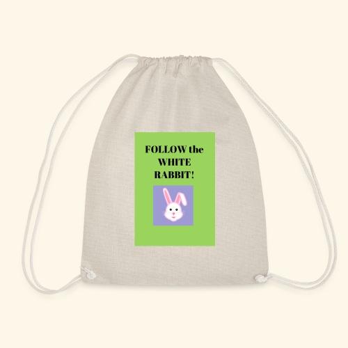 Follow the white rabbit Zeichnung - Turnbeutel