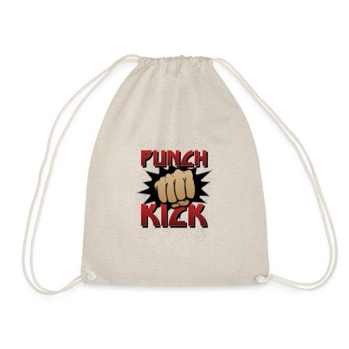 Punch Kick - Fist - Drawstring Bag