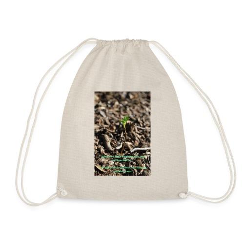 Hege die zarte Pflanze - Turnbeutel