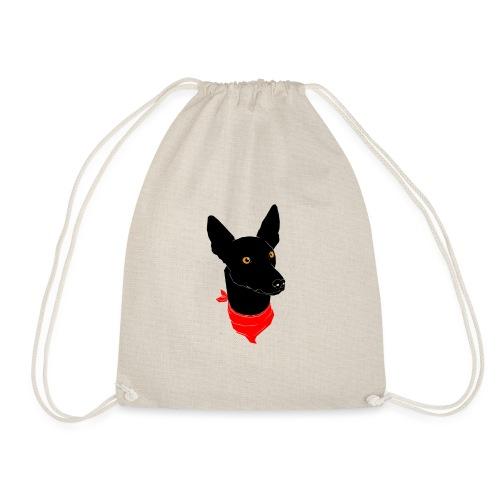 perro negro - Mochila saco