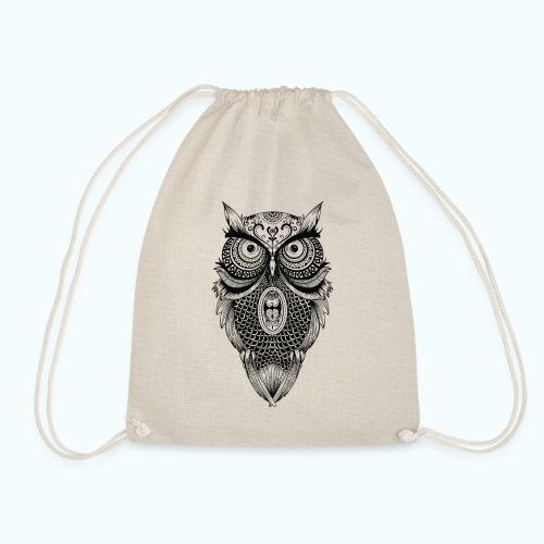 Mandala owl - Drawstring Bag