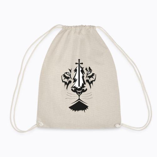 lion sword - Drawstring Bag