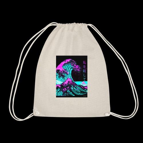 F A D E Wave design - Drawstring Bag
