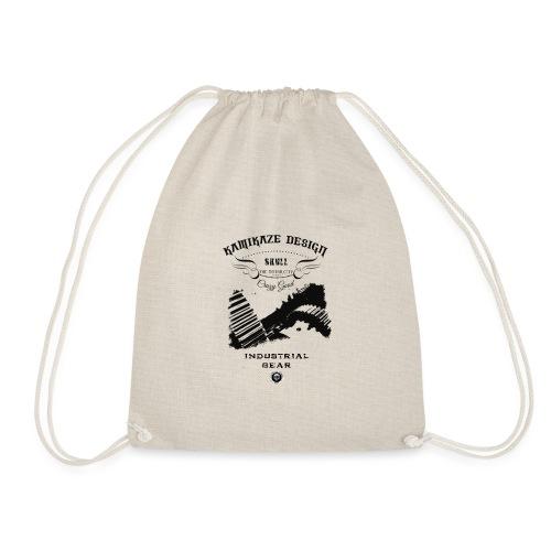 Skull industrial gear - Drawstring Bag