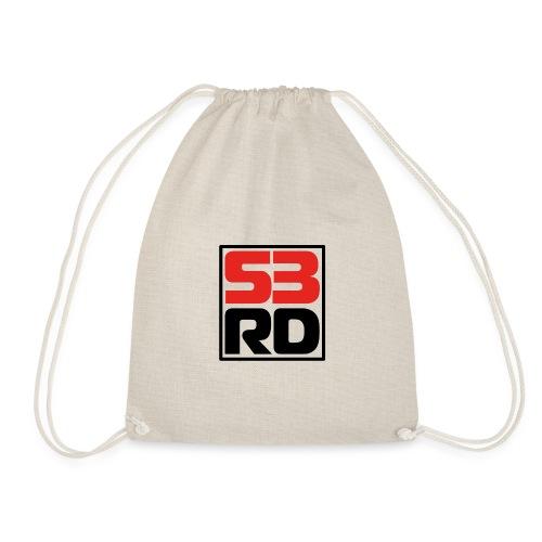 53RD Logo kompakt umrandet (schwarz-rot) - Turnbeutel