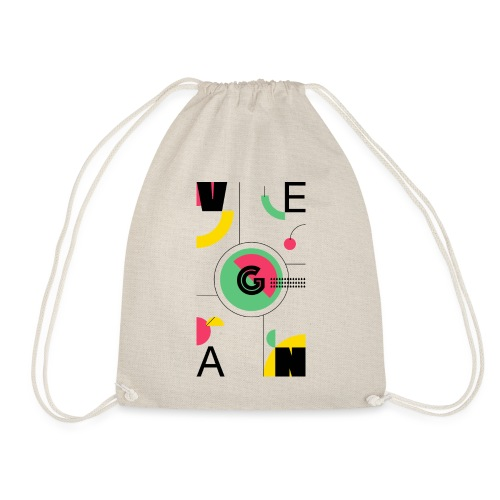 Abstract Vegan - Drawstring Bag