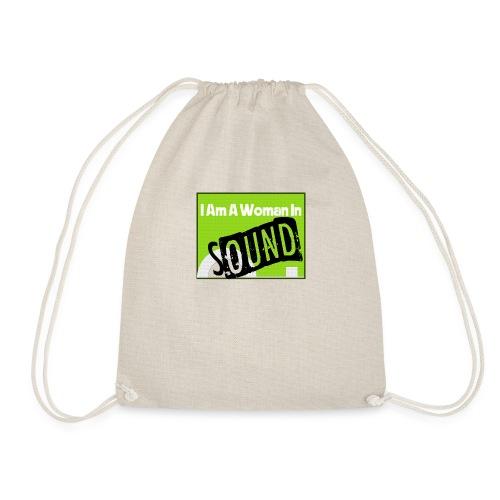 I am a woman in sound - Drawstring Bag