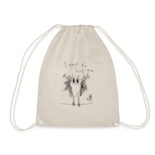 I Want To Hug You - Drawstring Bag