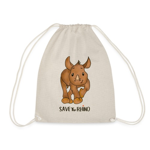 Save the Rhino - Drawstring Bag