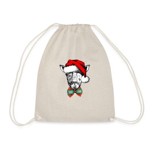 Christmas Giraffe - Drawstring Bag