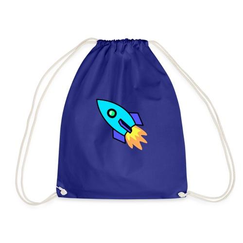 Blue rocket - Drawstring Bag