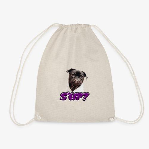 Sup pug - Drawstring Bag
