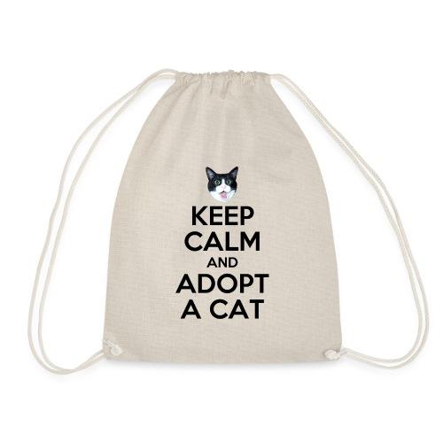 keep calm and adopt a cat - Turnbeutel