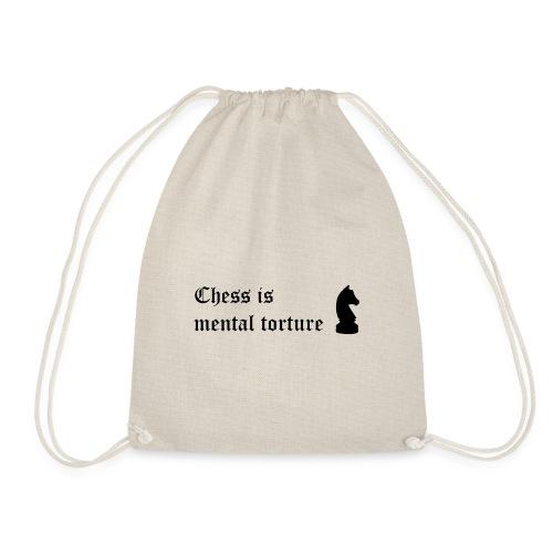 El ajedrez es tortura mental - Frase celebre - Mochila saco