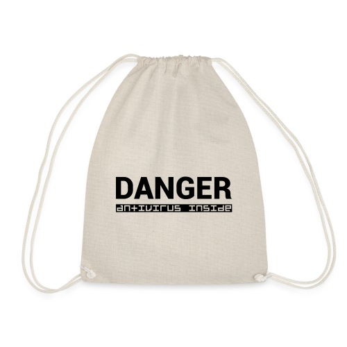 DANGER_antivirus_inside - Drawstring Bag