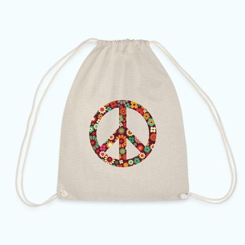 Flowers children - peace - Drawstring Bag
