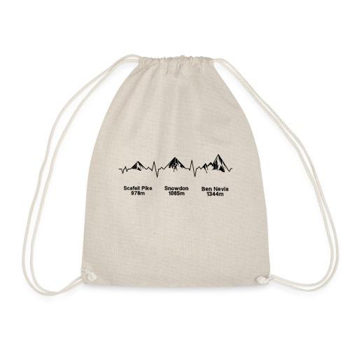 ECG Thee Peaks Light Background - Drawstring Bag