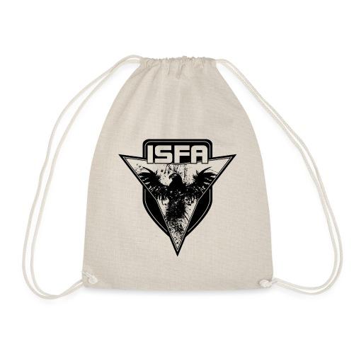 isfa logo 1c schwarz - Turnbeutel