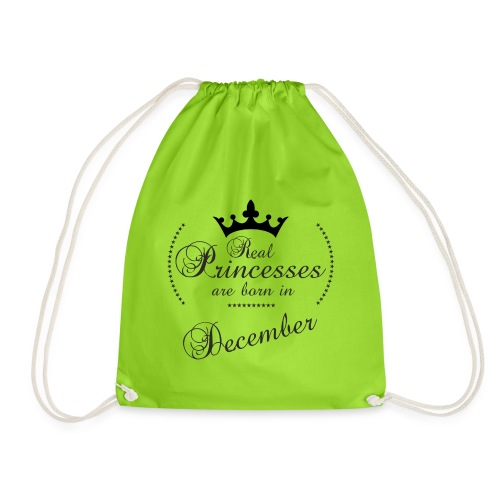 Real Princesses black December - Turnbeutel