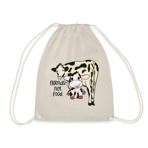 Friends not food - Drawstring Bag