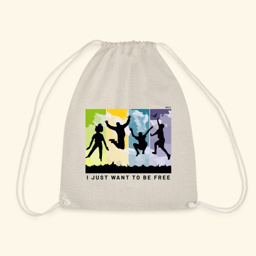 I just want to be free - Drawstring Bag
