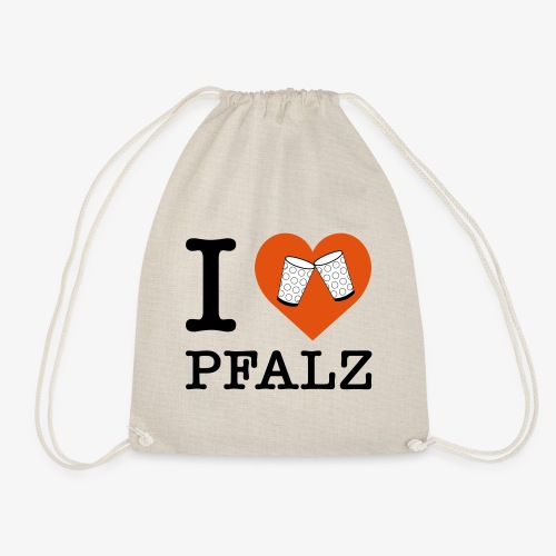 I love Pfalz – Dubbeglas - Turnbeutel