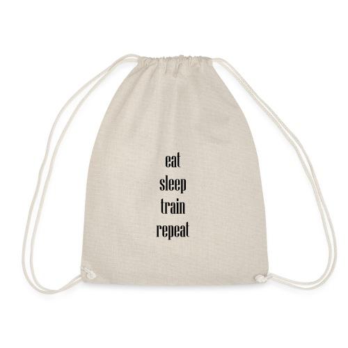 eat sleep train repeat - Turnbeutel