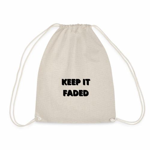 Keep It Faded logo base design - Drawstring Bag