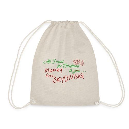 All I want for Christmas grün-rot - Turnbeutel