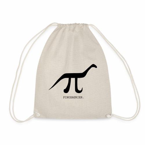 funny nerd geek, pi day, pi, Pinosaur - Drawstring Bag