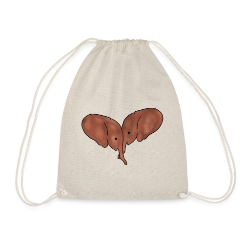 Elephant Heart - Drawstring Bag
