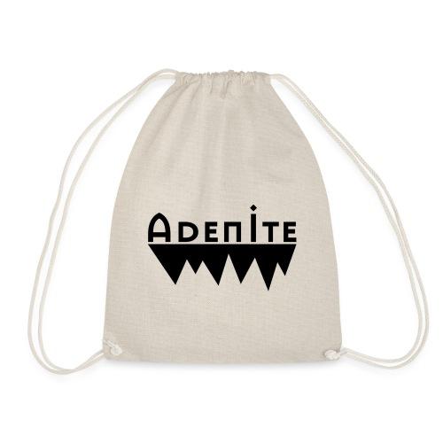 Adenite - schwarzes langes Logo - Turnbeutel