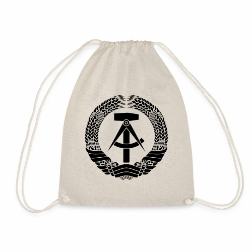 DDR Wappen (schwarz) - Drawstring Bag