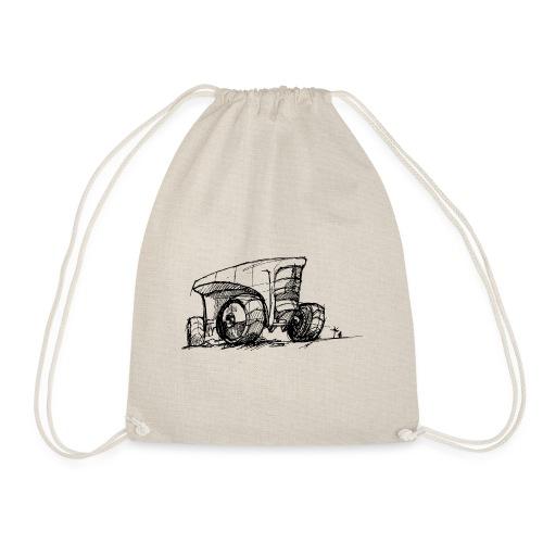 Futuristic design tractor - Drawstring Bag