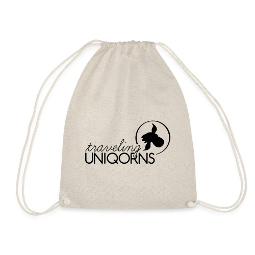 NEW black UNIQORN Logo - Drawstring Bag