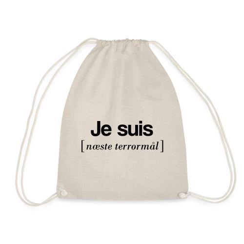 Je suis (sort skrift) - Sportstaske