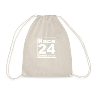 Race24 Logo - White - Drawstring Bag