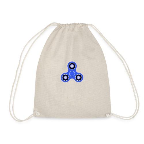 Fidget Spinner Blau - Turnbeutel