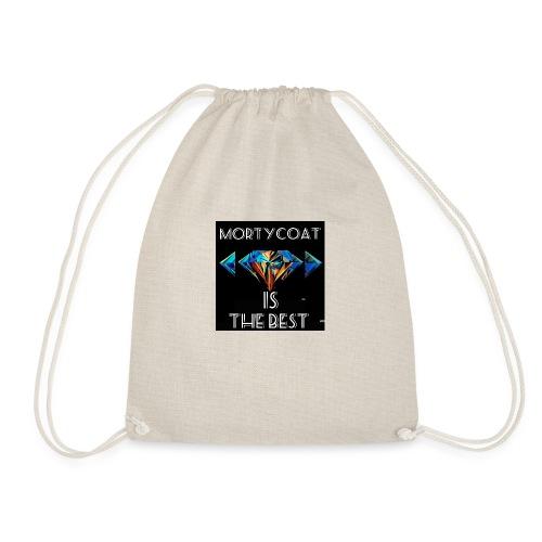 mortycoat diamond design - Drawstring Bag