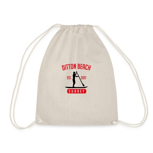 Ditton Beach Logo Final - Drawstring Bag