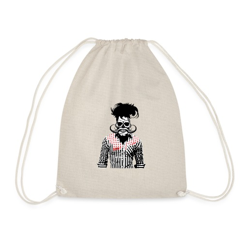 tete de mort hipster chemise skull moustache crane - Sac de sport léger