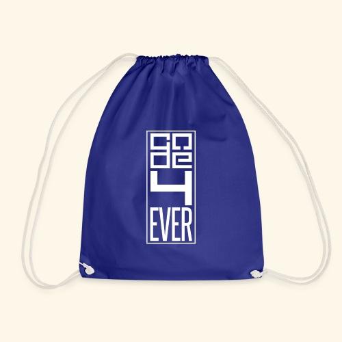Code4ever White - Drawstring Bag