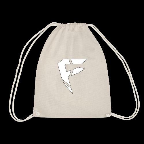 F Logo in Weiß - Turnbeutel