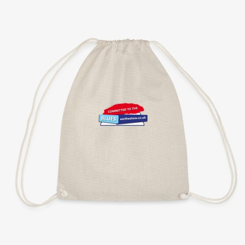 Committed to the Blues website logo - Drawstring Bag