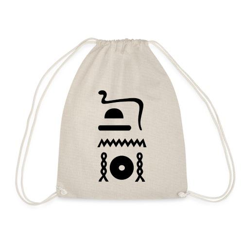 Hieroglyphen: djet-neheh (ewiglich, in Ewigkeit) - Turnbeutel
